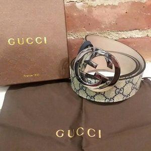 G buckle famous supreme Gucci belt